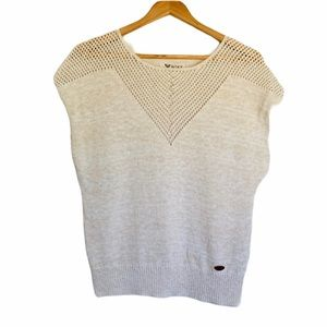 Roxy Quicksilver Sleeveless Sweater Top 100%Cotton